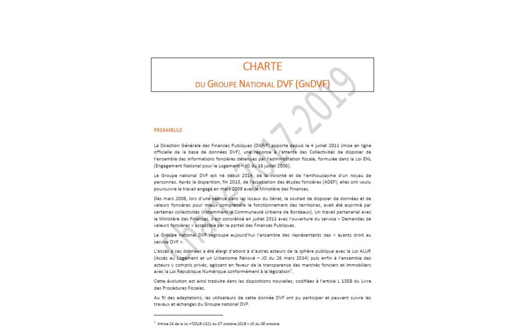 Vous utilisez DVF ? Signez la Charte du GnDVF